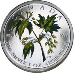 2003 Silver Maple Leaf Coloured Coin – Summer