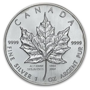 2004 1oz Silver Maple Leaf - 150th Anniversary