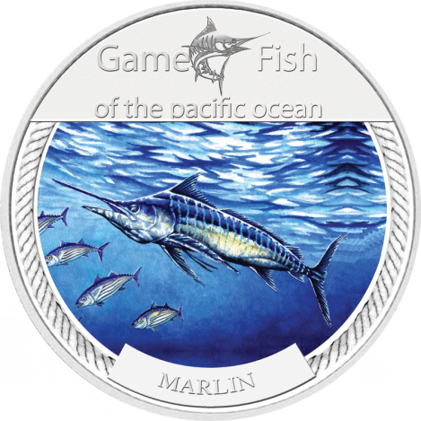 2009 Marlin Game Fish of the Pacific Ocean $2 1oz Silver Coin