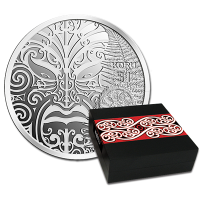 2013 Māori Art - Koru Silver Proof Coin