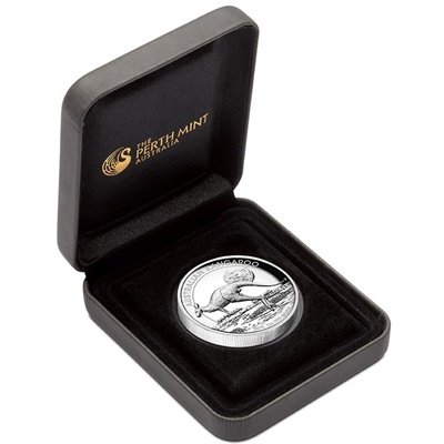 2015 1oz Silver Proof KANGAROO - HIGH RELIEF Edition