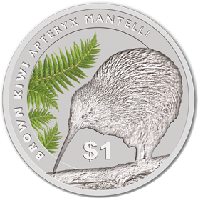2015 1oz Silver KIWI Specimen Coin - 'GLOW IN DARK'