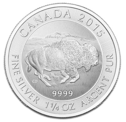 2015 Canada 1 1/4oz Silver BISON - NEW