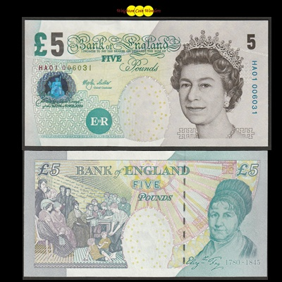 2002 Bank of England £5 Note - HA01